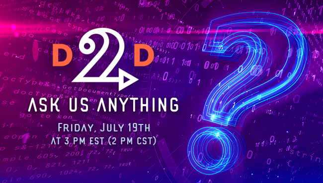 WEBINAR: D2D Ask Us Anything – Marketing Edition!